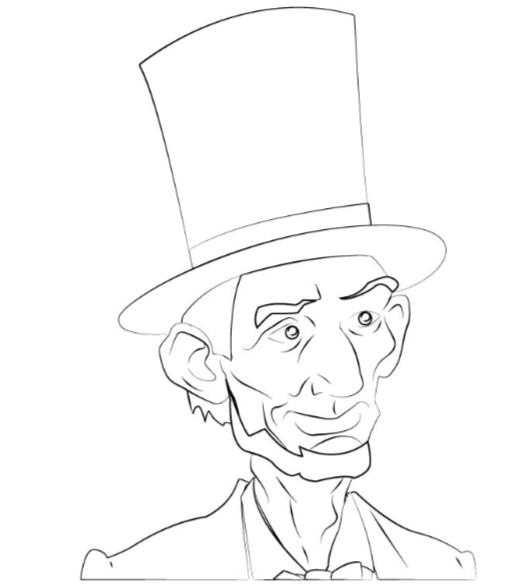 coloring pages abraham lincoln - president abraham lincoln facts ponder monster