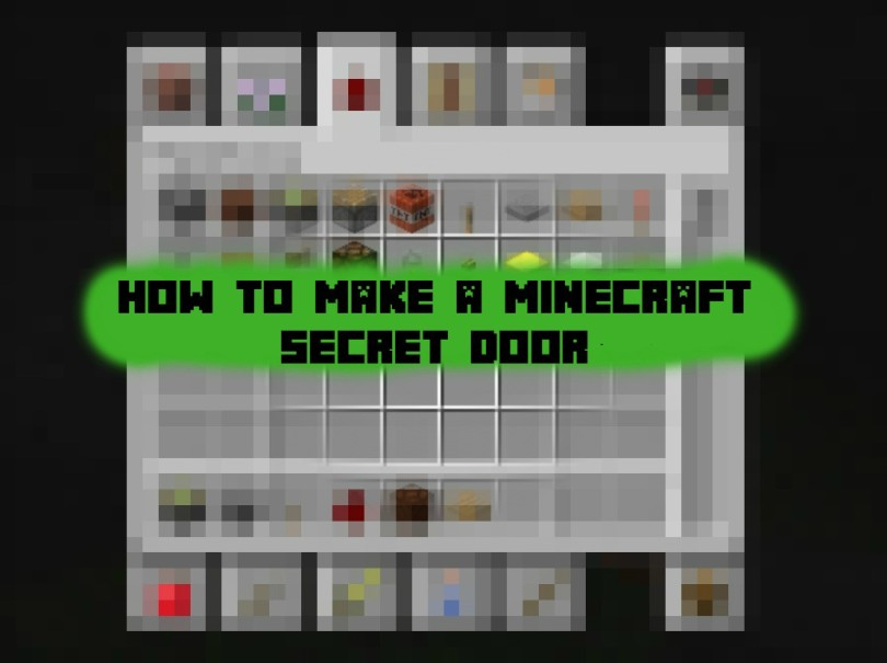 minecraft secret door