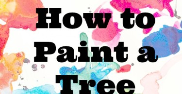how to paint a tree
